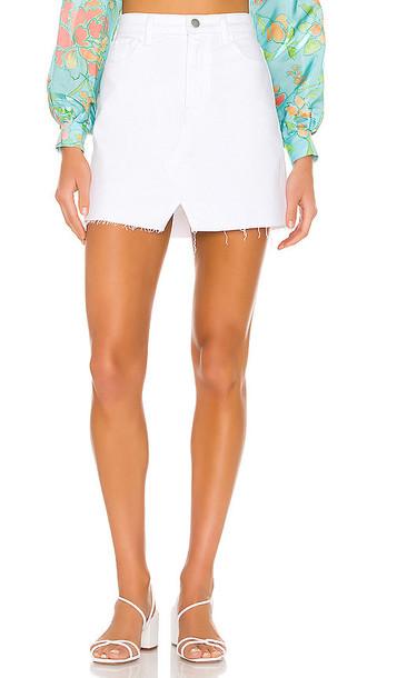 J Brand Jules High Rise Skirt in white