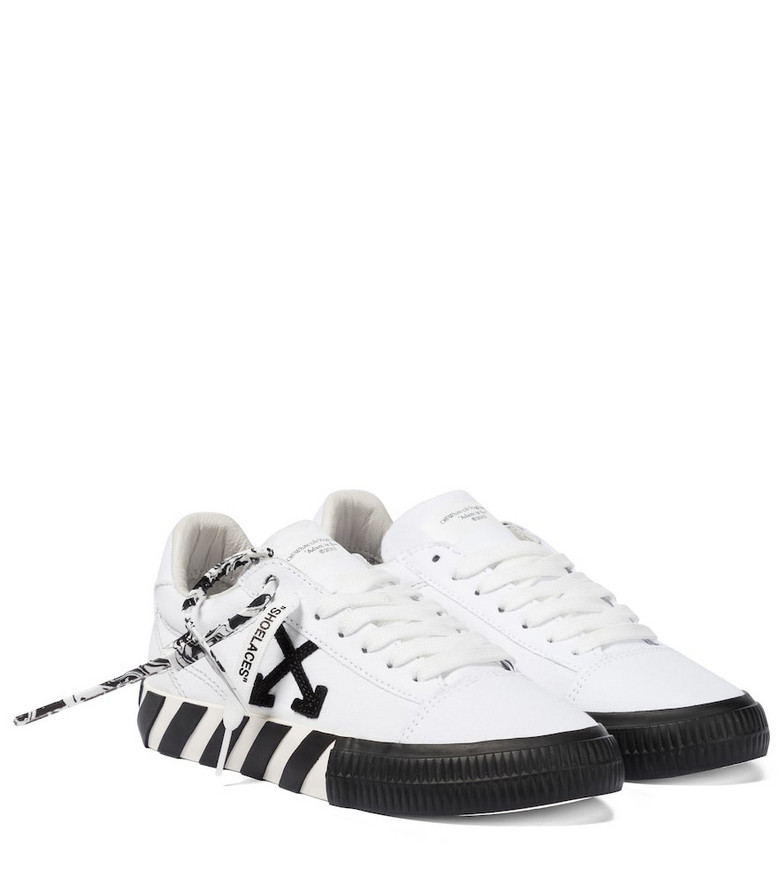 Off-White Low Vulcanized canvas sneakers in white