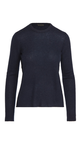ATM Anthony Thomas Melillo Cashmere Crew Neck Sweater in midnight