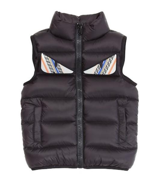 Fendi Kids Quilted down vest in black
