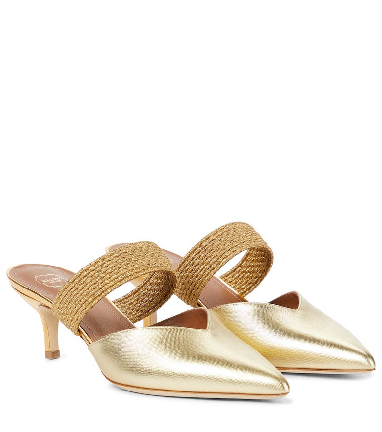 Malone Souliers Maisie 45 metallic leather mules in gold