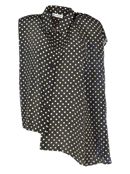 Balenciaga Sleeveless Blouse in black / white
