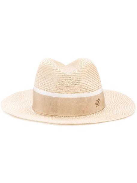 Maison Michel Henrietta fedora hat in neutrals