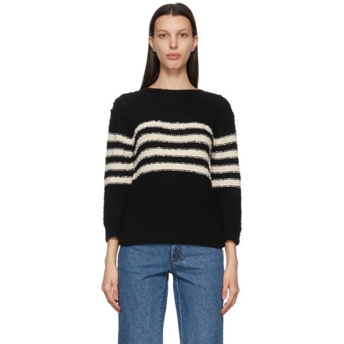 A.P.C. A.P.C. Black and Off-White Luzia Sailor Sweater