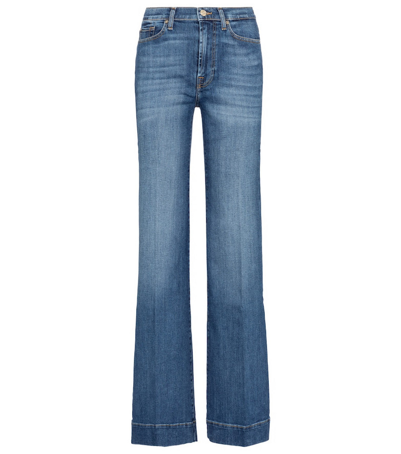 7 For All Mankind Modern Dojo high-rise flared jeans in blue