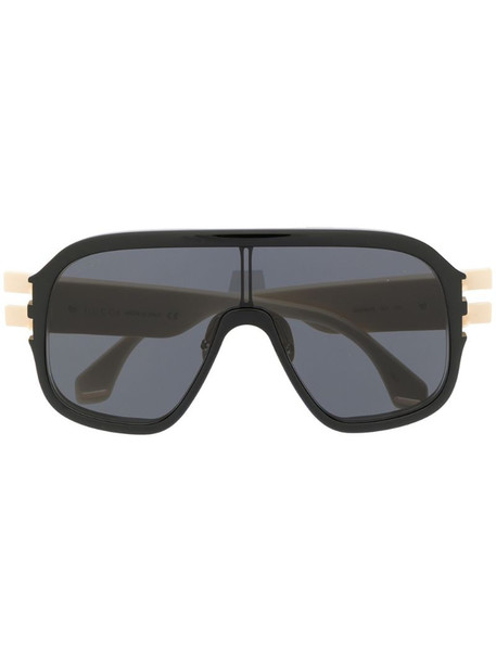 Gucci Eyewear oversized mask-frame sunglasses in neutrals