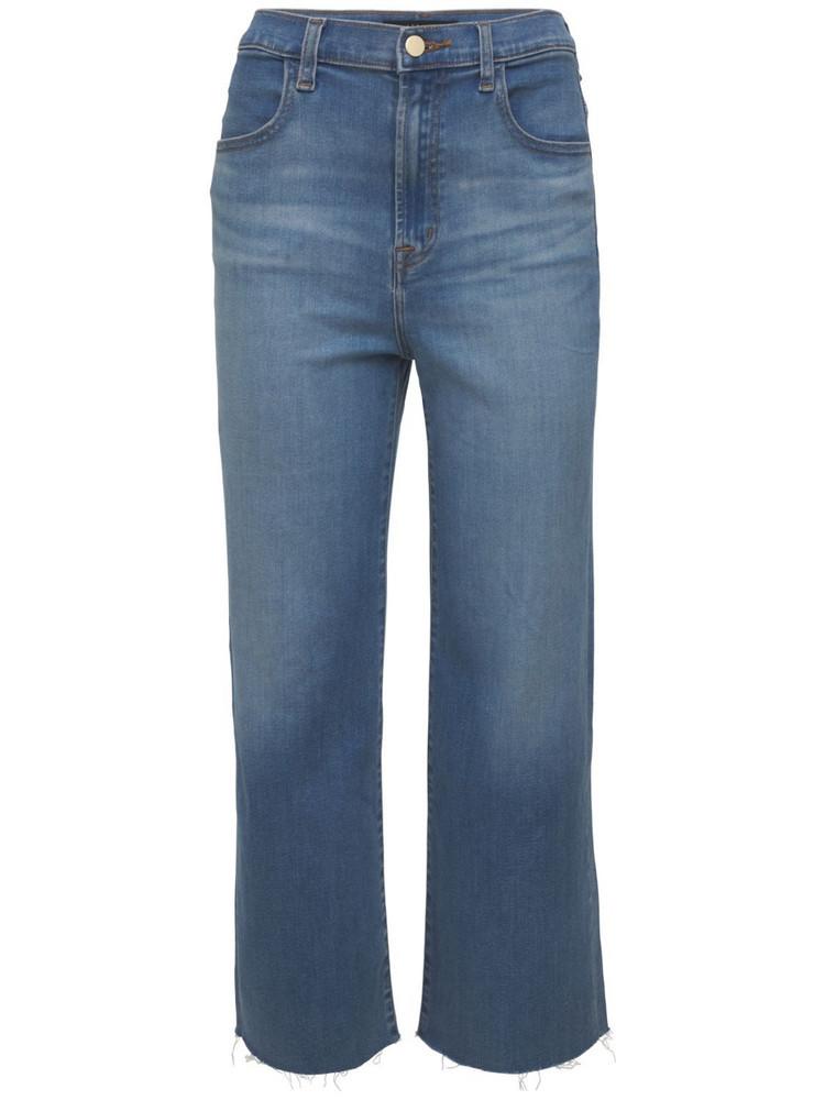 J BRAND Joan High Waist Wide Leg Crop Jeans in blue