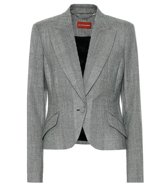 Altuzarra Kershaw checked wool-blend blazer in black