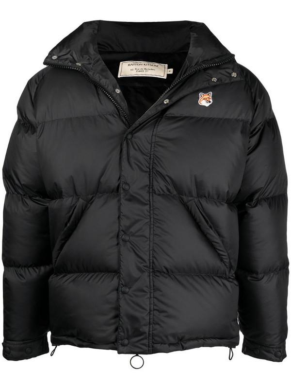 Maison Kitsuné logo patch down puffer jacket in black