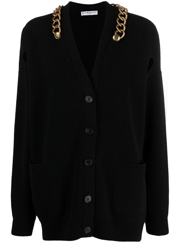 Givenchy chain-detail cardigan in black