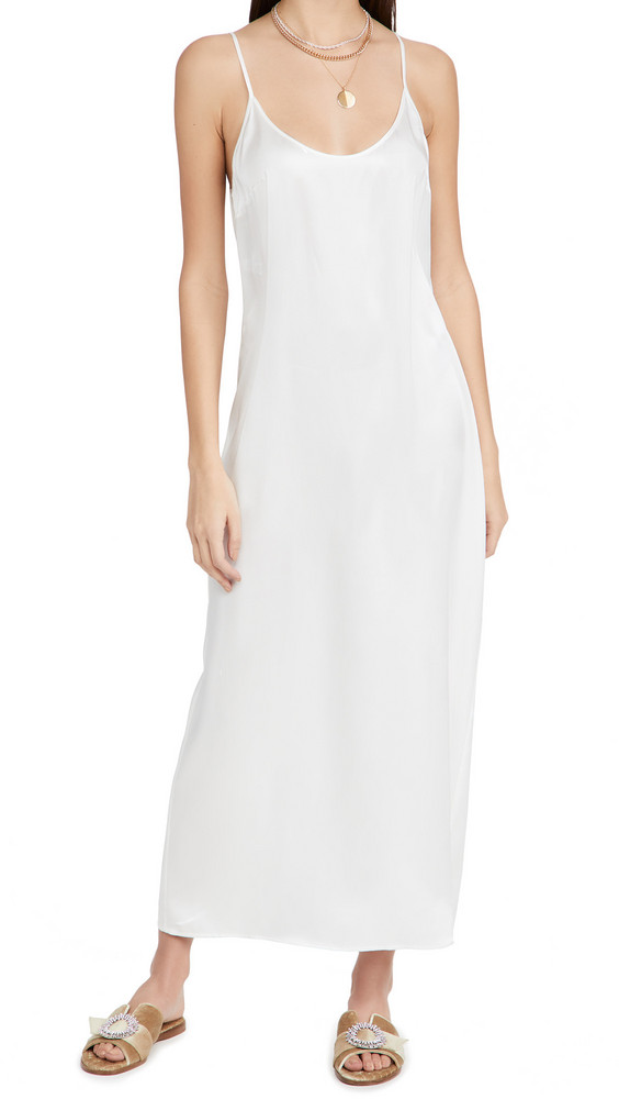 La Perla Long Slip Dress in ecru