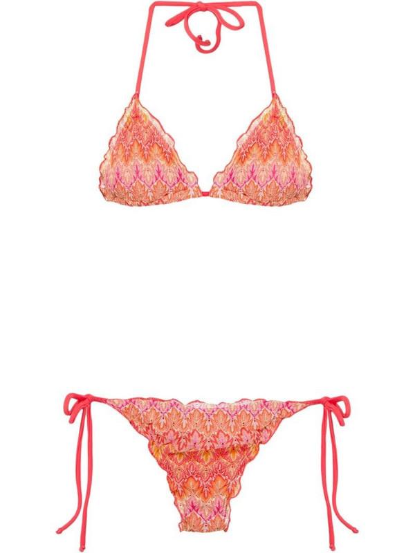 Brigitte knit bikini set in red
