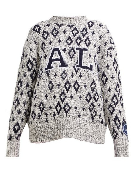 Calvin Klein 205w39nyc - Yale Jacquard Knitted Sweater - Womens - Black Multi