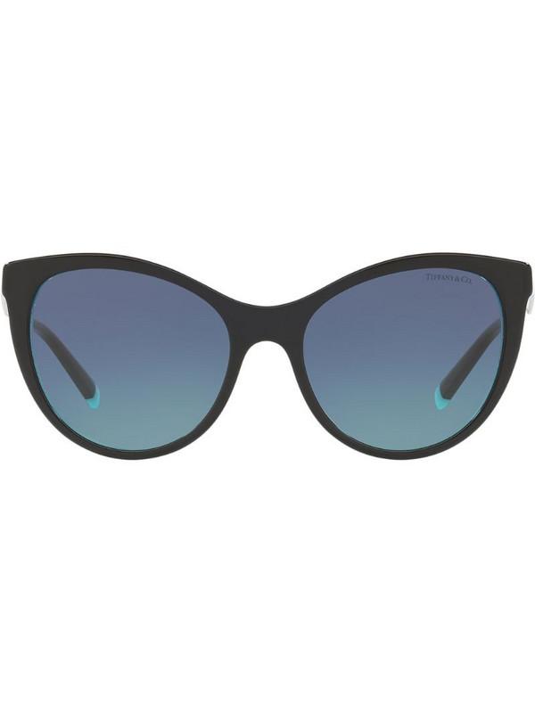 Tiffany & Co Eyewear cat eye oversized sunglasses in black