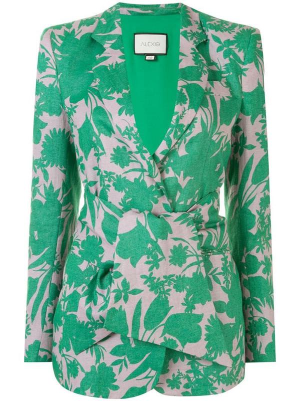 Alexis Kopar botanical print jacket in green