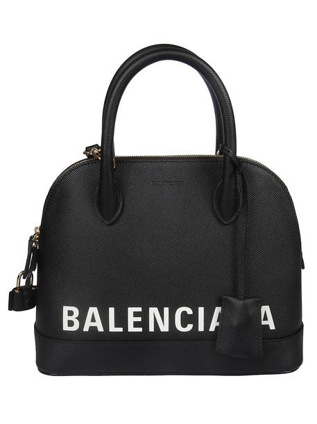 Balenciaga Ville Top Handle Tote in black / white
