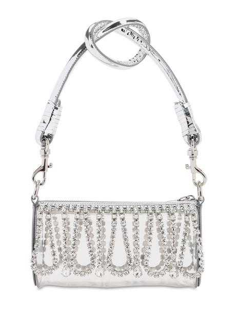 AREA Roll Crystal & Pvc Bucket Bag in silver