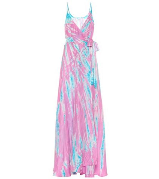 Anna Kosturova Exclusive to Mytheresa – tie-dye silk maxi dress in purple