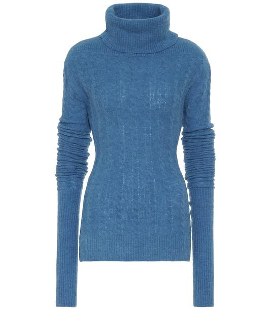 Jacquemus La Maille Sofia alpaca-blend sweater in blue