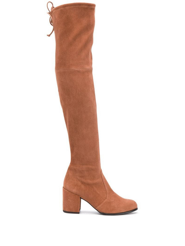 Stuart Weitzman Capuccini over the knee boots in neutrals