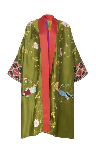 Rianna + Nina Rianna + Nina Exclusive One Of A Kind Silk Coat in multi