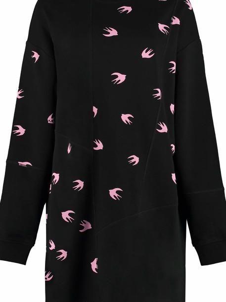 McQ Alexander McQueen Swallow Print Oversize Sweatshirt Dress