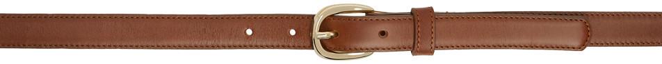 A.P.C. A.P.C. Brown Leather Rosette Belt