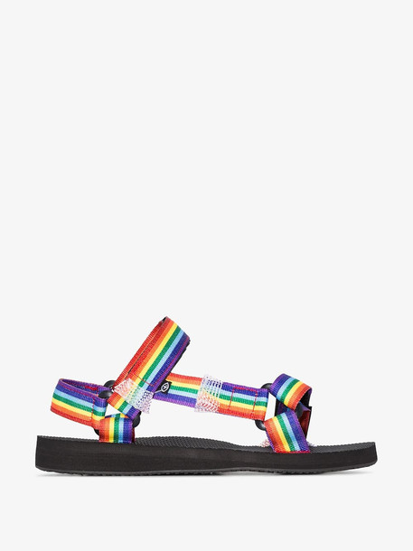 Arizona Love Multicoloured Rainbow sandals in black