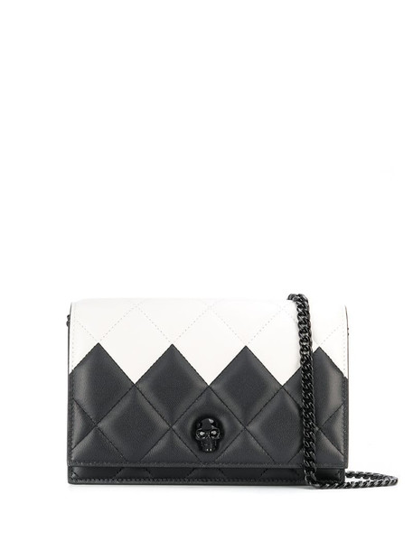 Alexander McQueen two-toned quilted crossbody bag in white