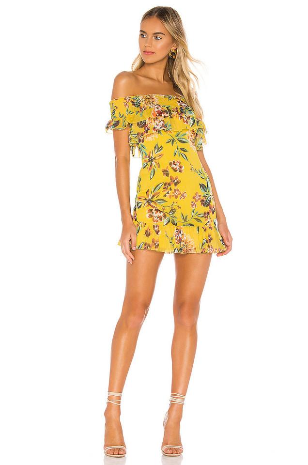 Tularosa Lanzo Dress in yellow
