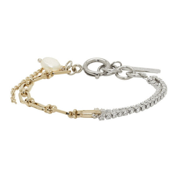 Justine Clenquet Silver and Gold Jamie Bracelet