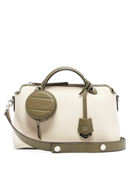 Fendi - By The Way Canvas Shoulder Bag - Womens - Cream Multi