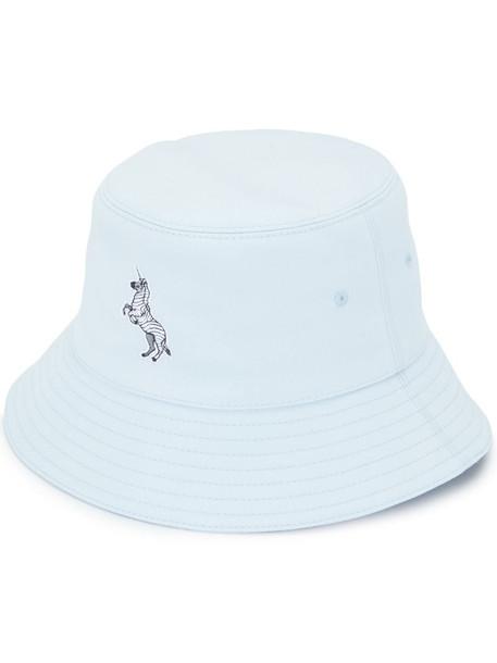 Burberry zebra appliqué bucket hat in blue