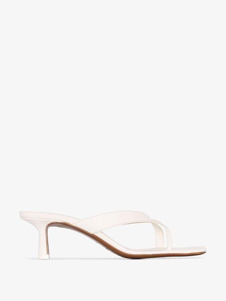 NEOUS cream Florae 60 leather sandals