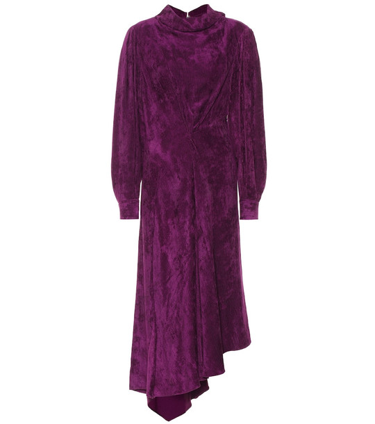 Isabel Marant Fergus velvet dress in purple