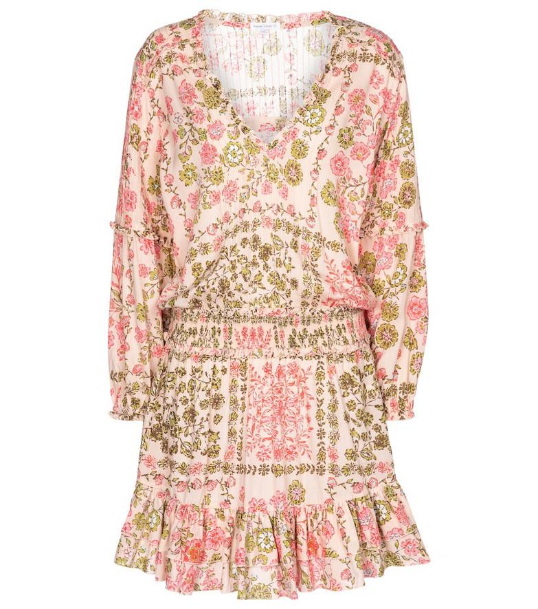 Poupette St Barth Ilona floral minidress in pink