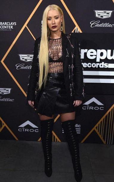 black Lace Skirt Azalea
