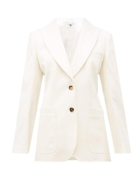 Bella Freud - Saint James Wool Cavalry Twill Blazer - Womens - White
