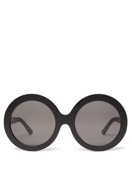Celine Eyewear - Oversized Round Frame Sunglasses - Womens - Black