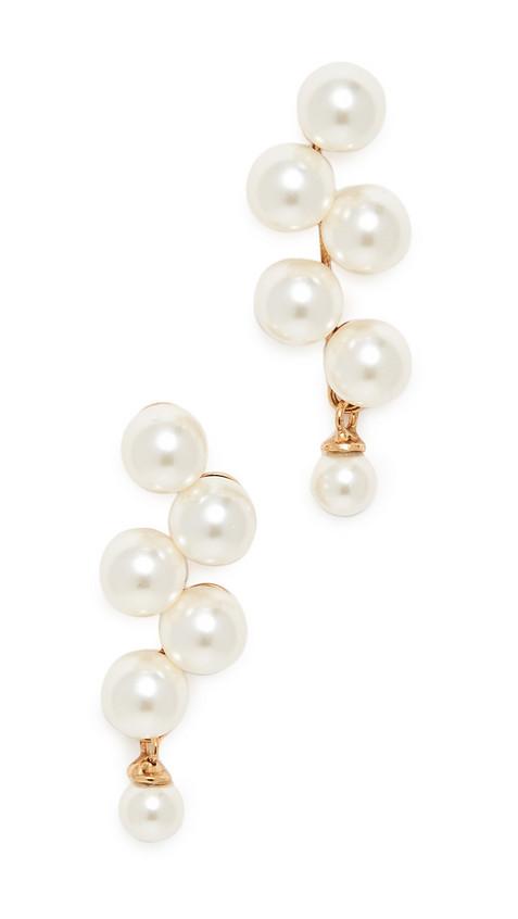 Jennifer Behr Marcella Earrings in gold