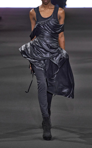 Ann Demeulemeester Jersey Tank Top in black