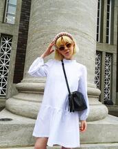 stella's wardrobe,blogger,dress,sunglasses,bag,shoes,white dress,gucci bag