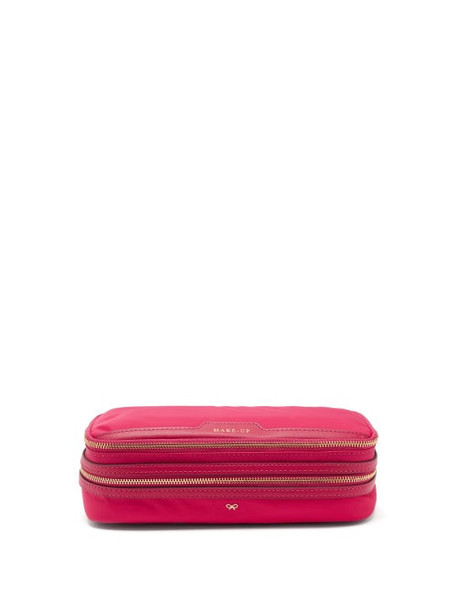 Anya Hindmarch - Make-up Zipped Econyl® Pouch - Womens - Pink