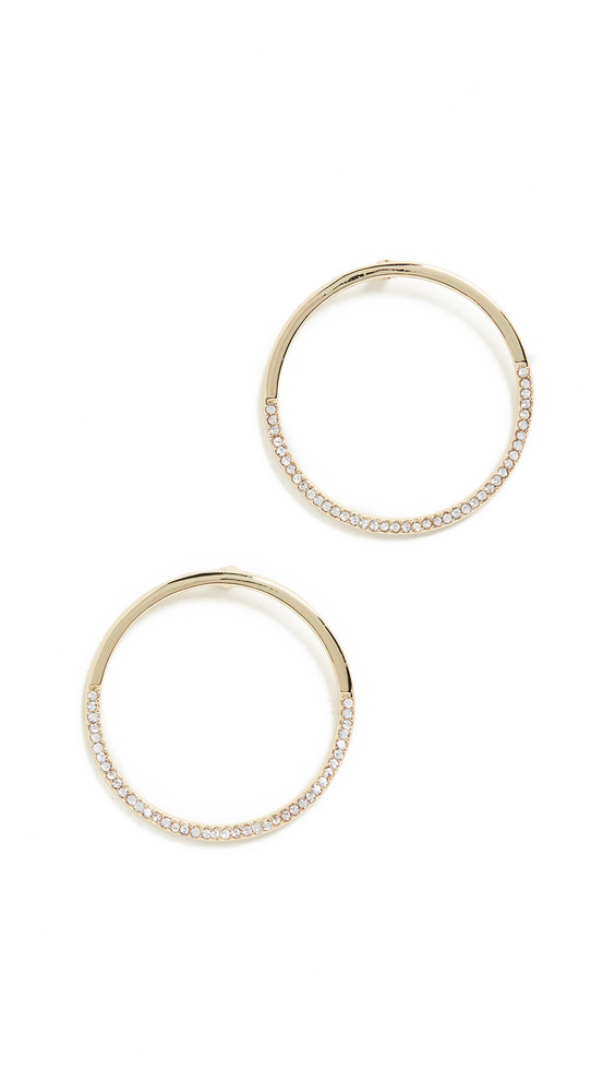 Jules Smith Half Crystal Circle Earring in gold