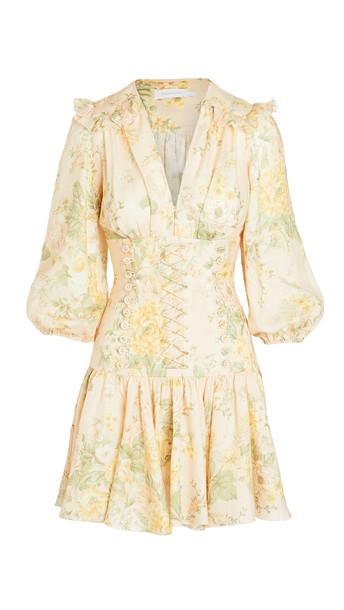 Zimmermann Amelie Corset Dress in peach