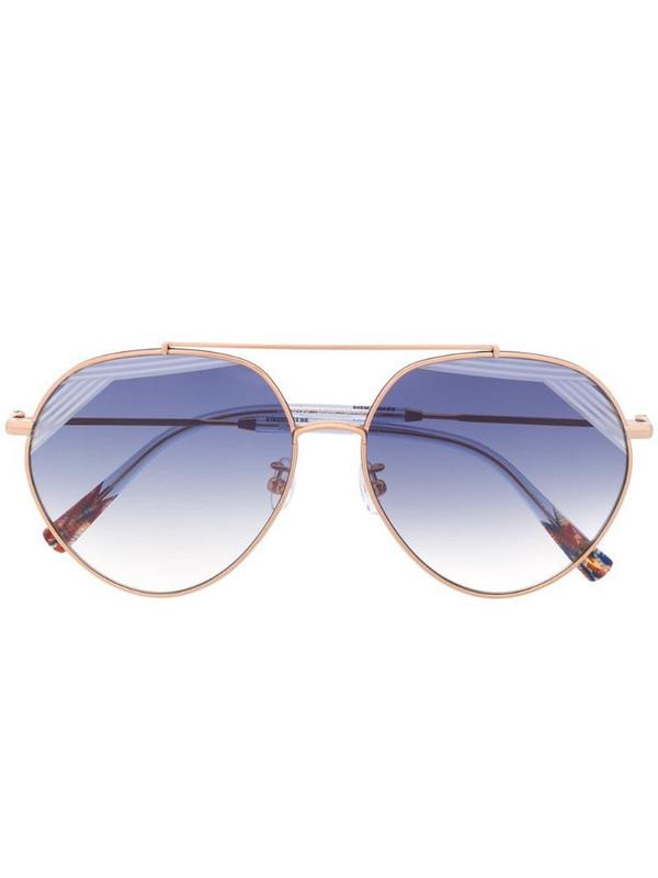 MISSONI EYEWEAR round-frame sunglasses in gold