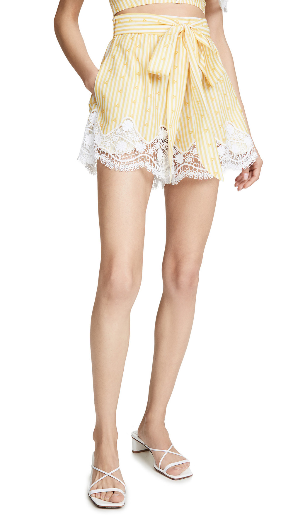 Miguelina Liana Shorts in yellow