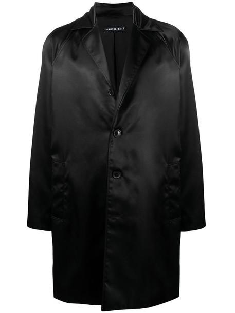 Y/Project satin coat in black