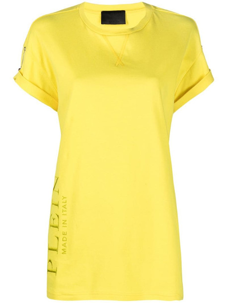 Philipp Plein safety pin-embellished T-shirt in yellow