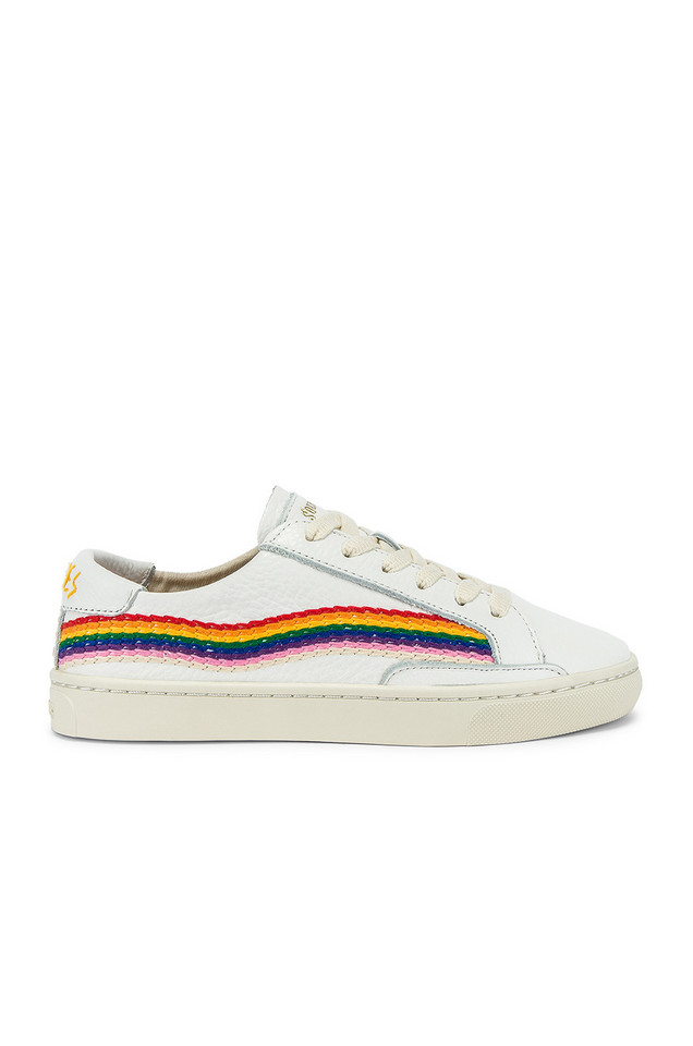 Soludos Rainbow Wave Sneaker in white